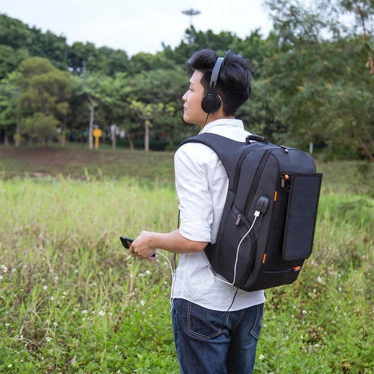 vodozashhishhennyj usb rjukzak s solnechnoj panelju 7vt haweel 2160l 07 - Водозащищенный USB-рюкзак с солнечной панелью 7Вт HAWEEL 2160L