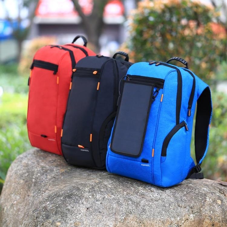vodozashhishhennyj usb rjukzak s solnechnoj panelju 7vt haweel 2160l 17 - Водозащищенный USB-рюкзак с солнечной панелью 7Вт HAWEEL 2160L