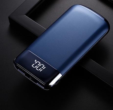 zarjadnoe power bank 10000 mach my10 05 - Зарядное-Power Bank 10000 мАч MY10: 2 USB, ЖК-экран, фонарик