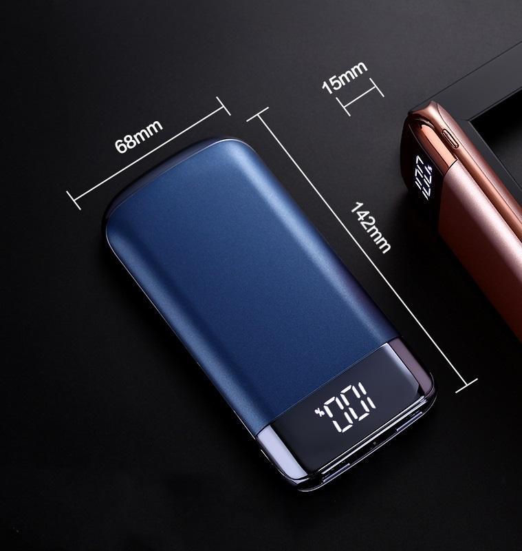 zarjadnoe power bank 10000 mach my10 06 - Зарядное-Power Bank 10000 мАч MY10: 2 USB, ЖК-экран, фонарик