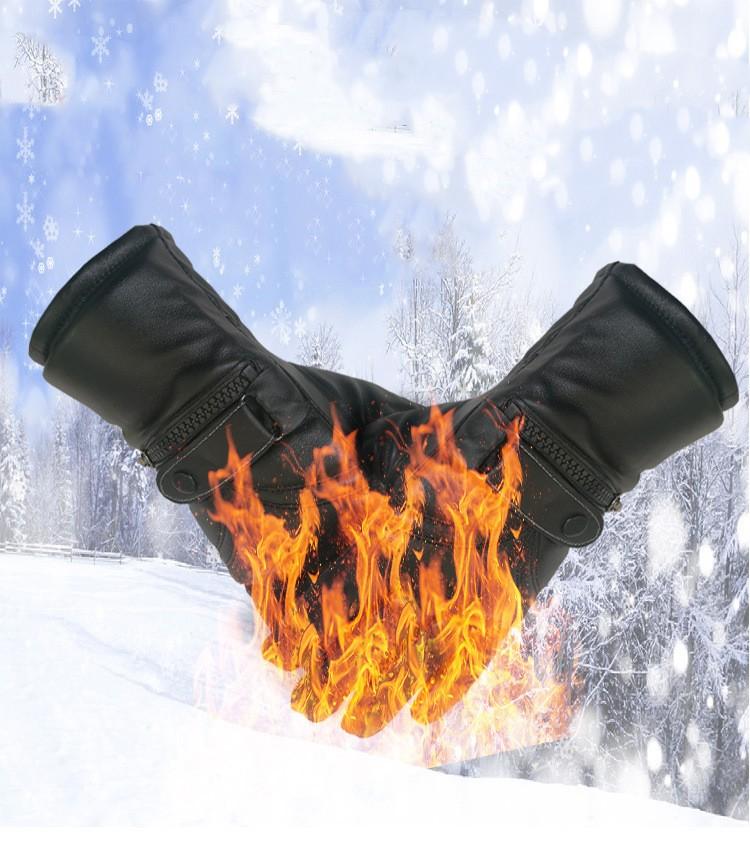 сенсорные перчатки с подогревом (с аккумулятором