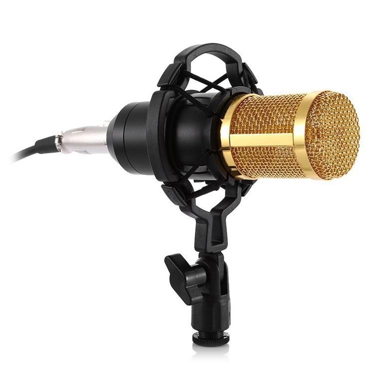 Конденсаторный микрофон (студийный микрофон) BM-800 + «паук», кабель и ветрозащита 222258