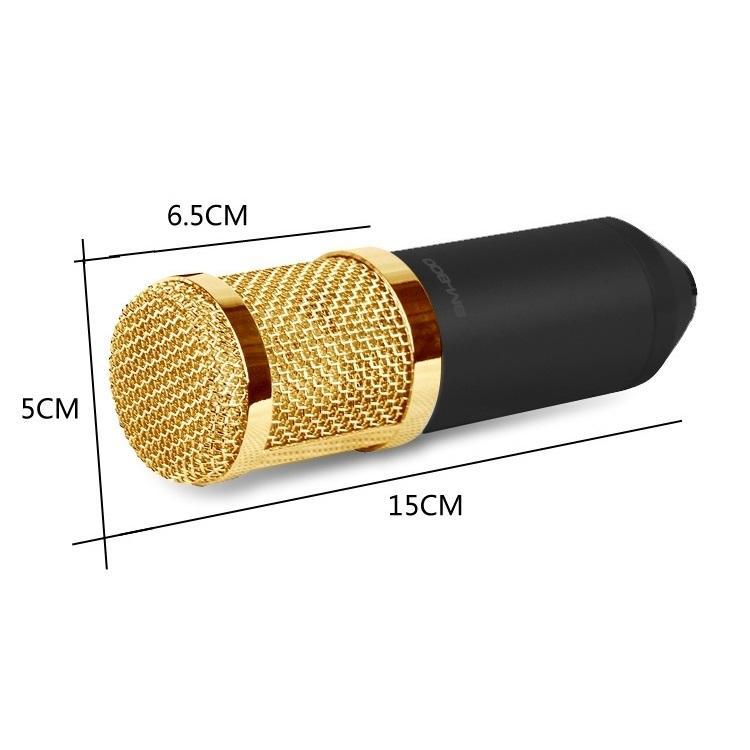 Конденсаторный микрофон (студийный микрофон) BM-800 + «паук», кабель и ветрозащита 222259