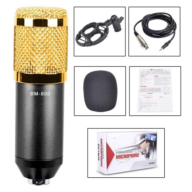 Конденсаторный микрофон (студийный микрофон) BM-800 + «паук», кабель и ветрозащита 222260