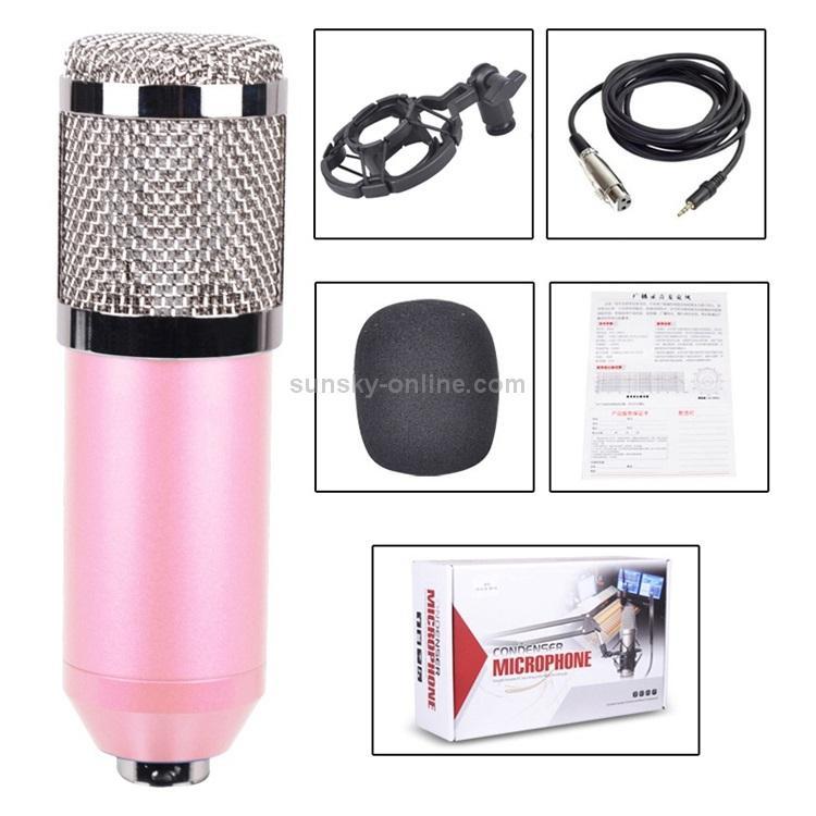 Конденсаторный микрофон (студийный микрофон) BM-800 + «паук», кабель и ветрозащита 222271