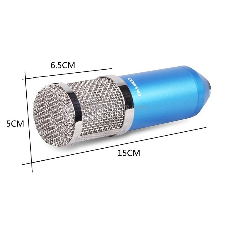 Конденсаторный микрофон (студийный микрофон) BM-800 + «паук», кабель и ветрозащита 222273