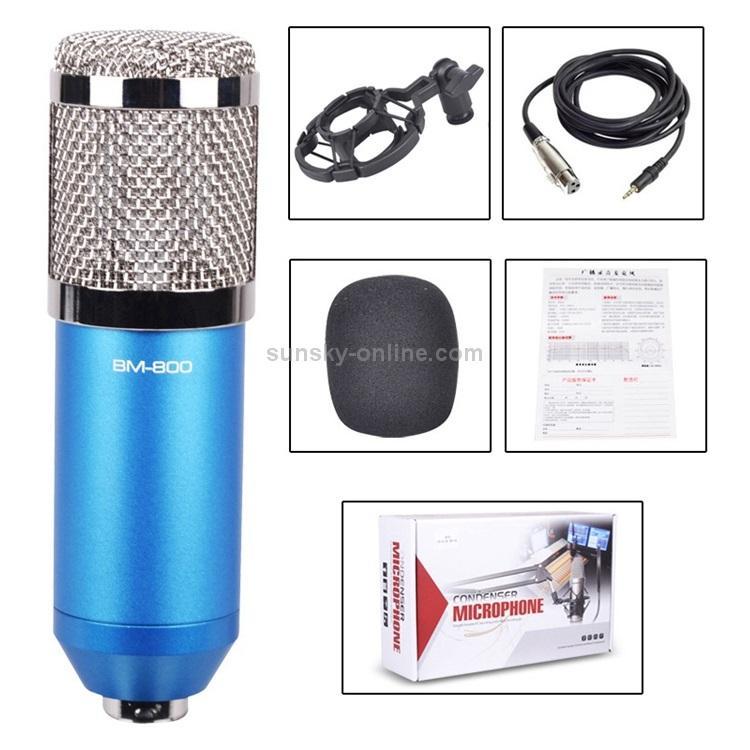 Конденсаторный микрофон (студийный микрофон) BM-800 + «паук», кабель и ветрозащита 222274