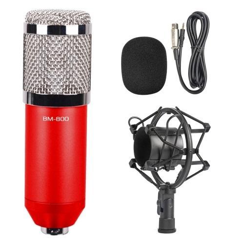 Конденсаторный микрофон (студийный микрофон) BM-800 + «паук», кабель и ветрозащита 222275