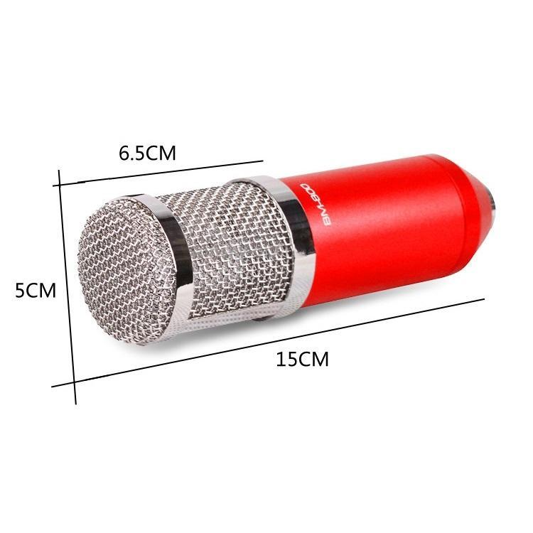 Конденсаторный микрофон (студийный микрофон) BM-800 + «паук», кабель и ветрозащита 222276