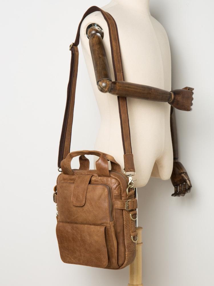 muzhskaja plechevaja sumka mantime lawyer iz naturalnoj kozhi 11 - Мужская плечевая сумка из натуральной кожи ManTime Lawyer