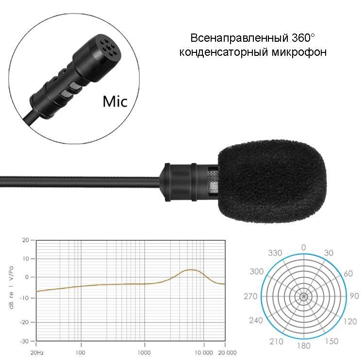 petlichnyj mikrofon kondensatornyj mini mikrofon yanmai r955s 06 - Петличный микрофон конденсаторный (мини-микрофон) Yanmai R955S – аудиокабель 6 м