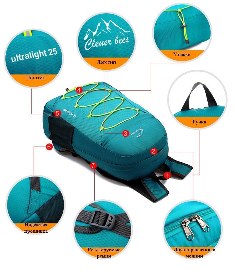 sverhlegkij vodonepronicaemyj skladnoj rjukzak portalife 16 - Сверхлегкий водонепроницаемый складной рюкзак PortaLife
