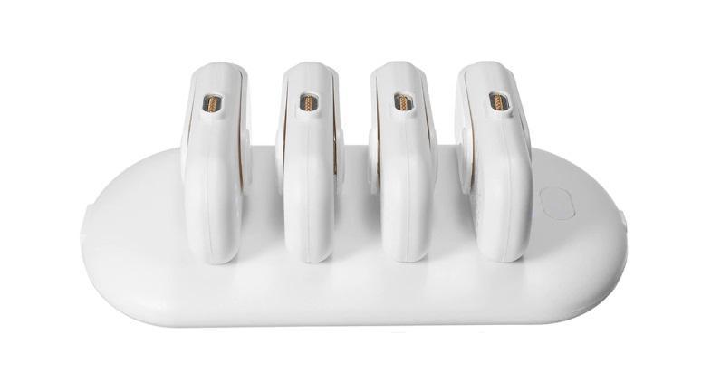 2 - 4 в 1 магнитная зарядка 5000 мАч + Power Bank (4 х 1000 мАч) + магнитные переходники для iPhone Lightning, Android, Tipe-C смартфонов