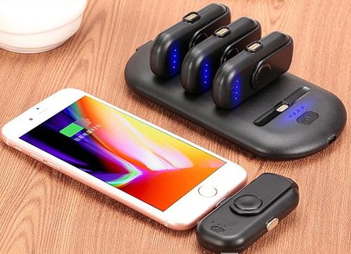 4 в 1 магнитная зарядка 5000 мАч + Power Bank (4 х 1000 мАч) +  магнитные переходники для iPhone Lightning, Android, Tipe-C смартфонов