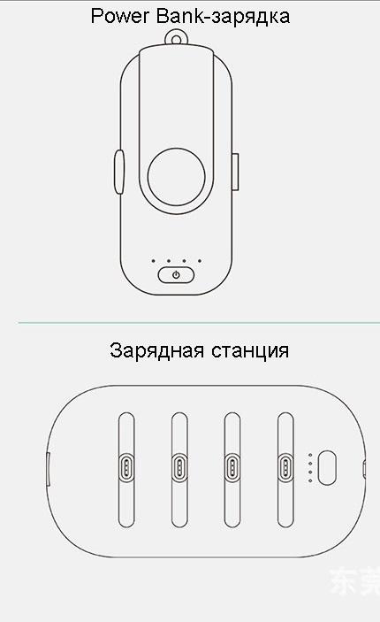 9025443495 1010089829 - 4 в 1 магнитная зарядка 5000 мАч + Power Bank (4 х 1000 мАч) + магнитные переходники для iPhone Lightning, Android, Tipe-C смартфонов