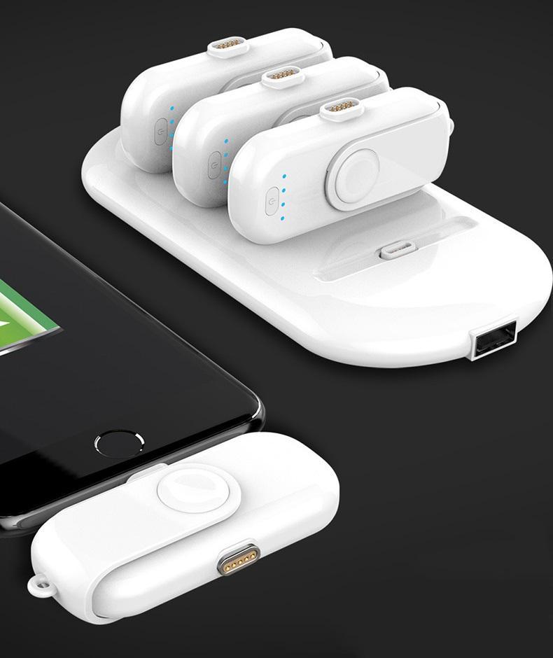 9045961830 1010089829 - 4 в 1 магнитная зарядка 5000 мАч + Power Bank (4 х 1000 мАч) + магнитные переходники для iPhone Lightning, Android, Tipe-C смартфонов