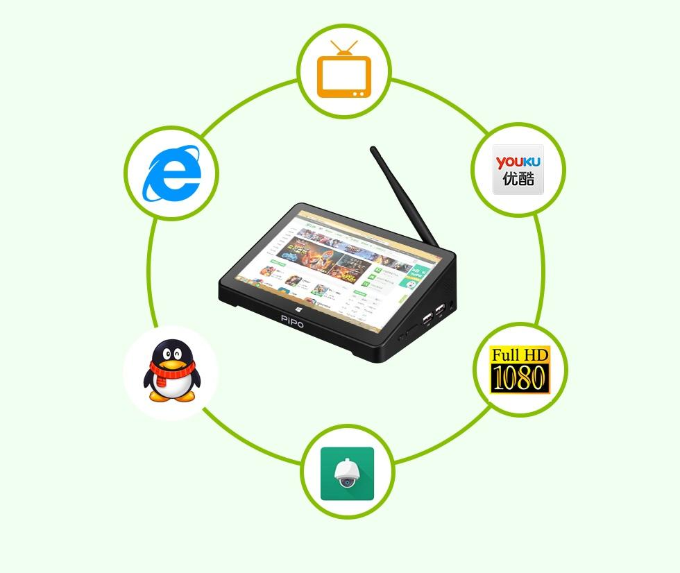 mini pk s jekranom 108 djujma pipo x10 pro 02 1 - Мини-ПК с экраном 10,8 дюйма PiPo X10 Pro: 4Гб+64Гб, 10000 мАч батарея, Android + Windows 10, Intel Cherry Trail Z8350 1.92 ГГц, LAN, HDMI