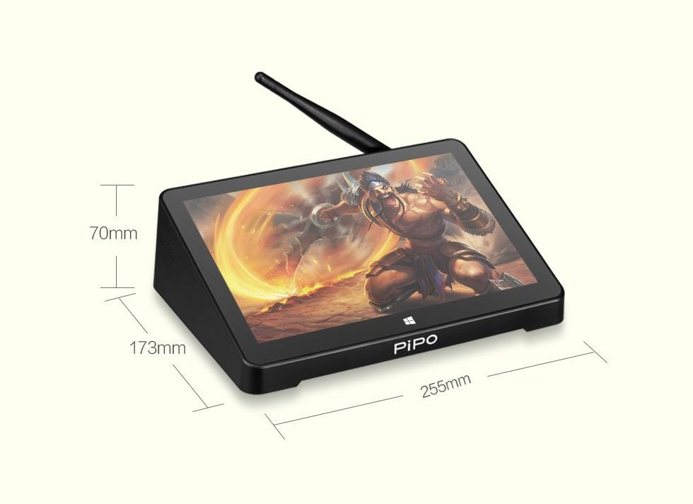 mini pk s jekranom 108 djujma pipo x10 pro 06 1 - Мини-ПК с экраном 10,8 дюйма PiPo X10 Pro: 4Гб+64Гб, 10000 мАч батарея, Android + Windows 10, Intel Cherry Trail Z8350 1.92 ГГц, LAN, HDMI