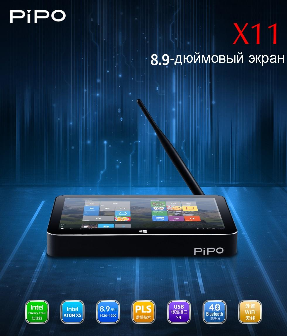 mini pk s jekranom pipo - Мини-ПК с экраном PiPo X11: 8,9 дюймов, Windows 10+ Android, 2/32Гб, HDMI, USB 3.0