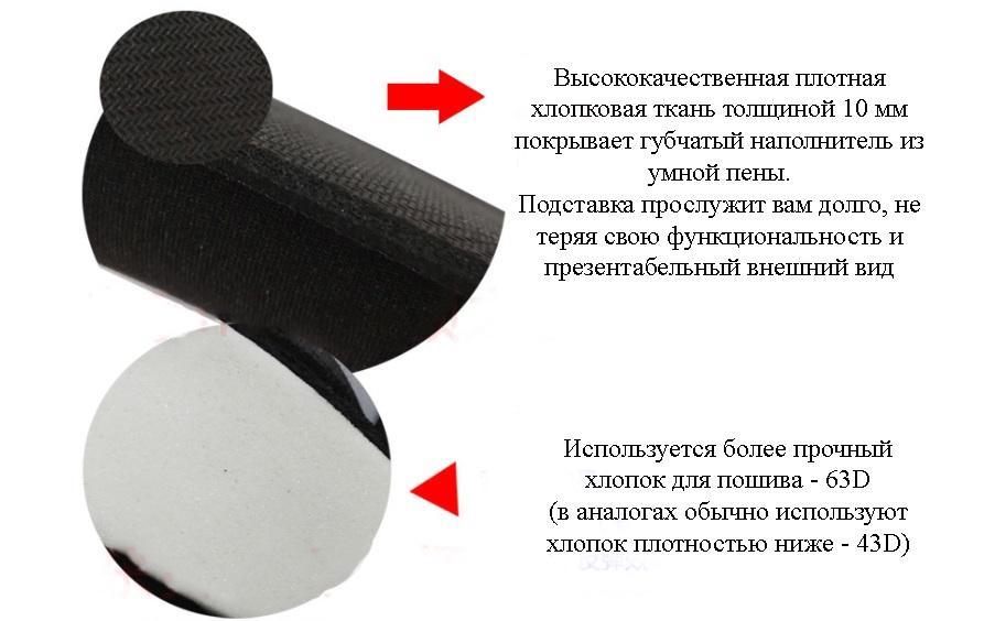 podstavka pod zapjaste dlja myshi iz memory foam umnoj peny 01 - Подставка под запястье для мыши из Memory Foam (умной пены)