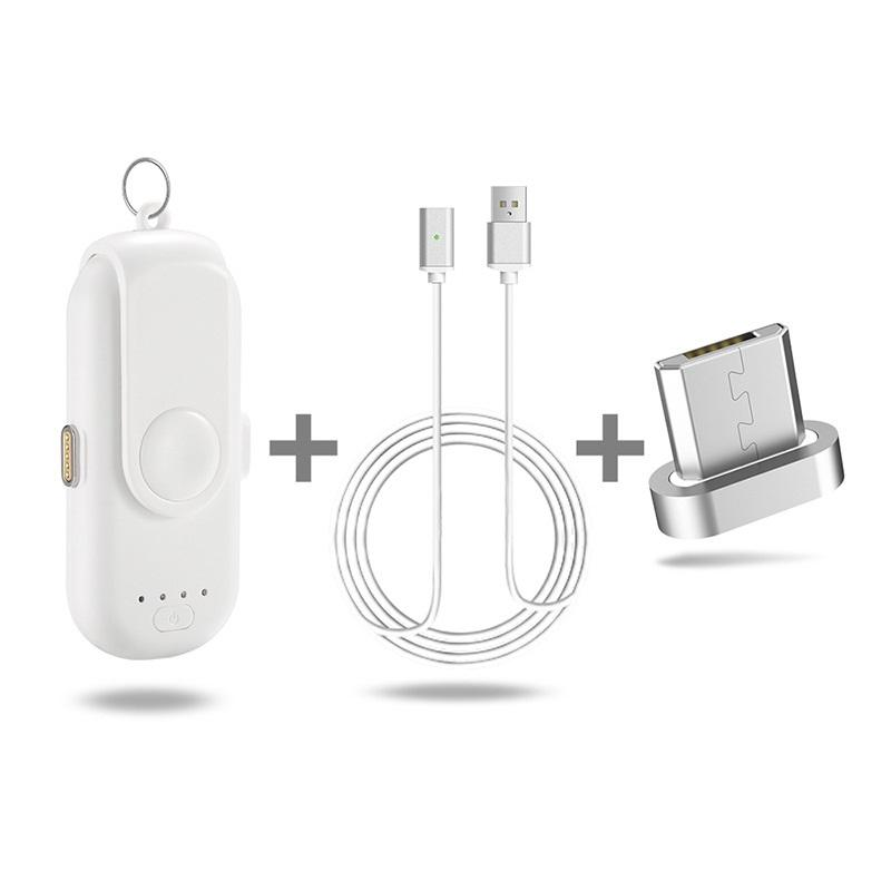power bank magnitnaja zarjadka 1000 mach 04 - Power Bank + магнитная зарядка 1000 мАч (+магнитные переходники для iPhone Lightning, Micro USB, Tipe-C)