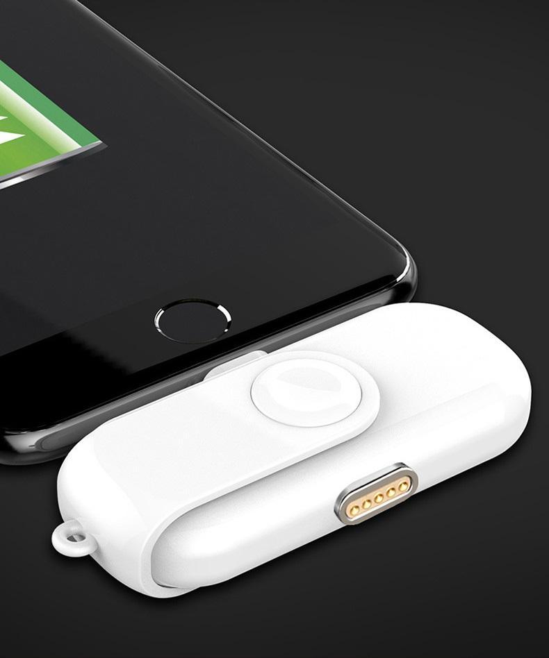 power bank magnitnaja zarjadka 1000 mach 06 - Power Bank + магнитная зарядка 1000 мАч (+магнитные переходники для iPhone Lightning, Micro USB, Tipe-C)