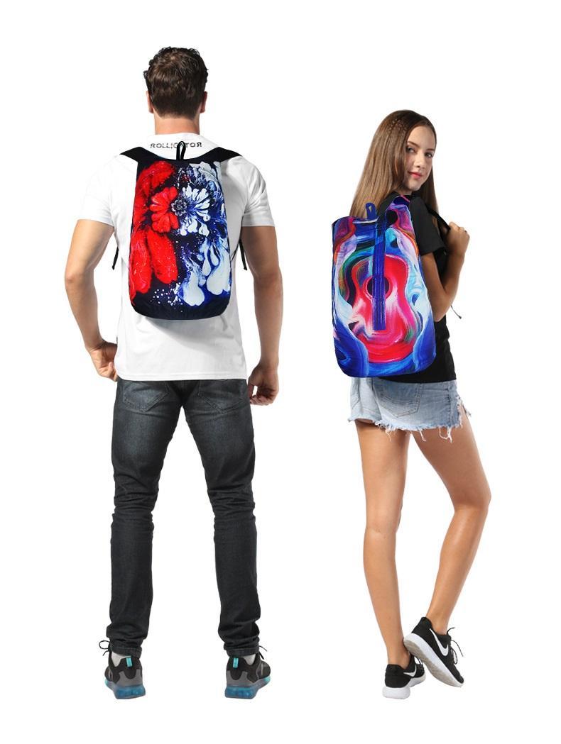 vodoottalkivajushhij skladnoj rjukzak play king 20 l s 3d printom 04 - Водоотталкивающий складной рюкзак PLAY-KING 20 л с 3D-принтом