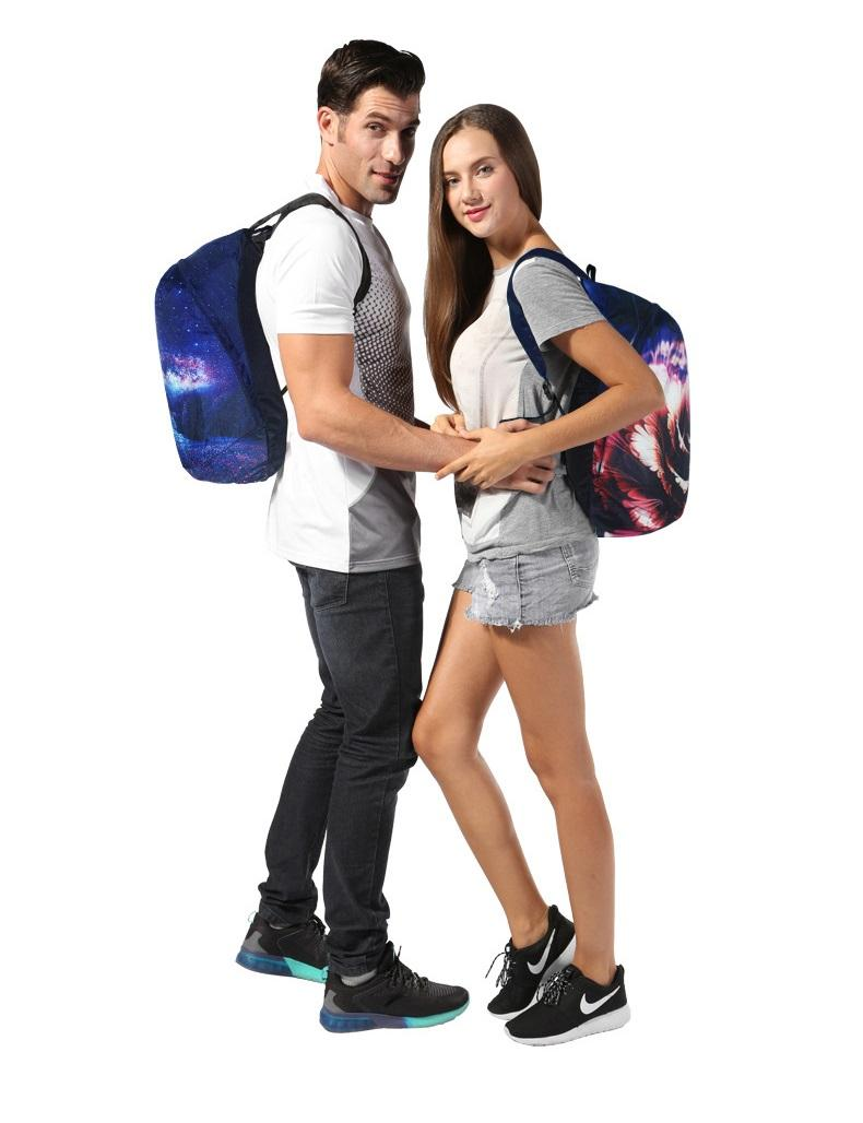 vodoottalkivajushhij skladnoj rjukzak play king 20 l s 3d printom 10 - Водоотталкивающий складной рюкзак PLAY-KING 20 л с 3D-принтом