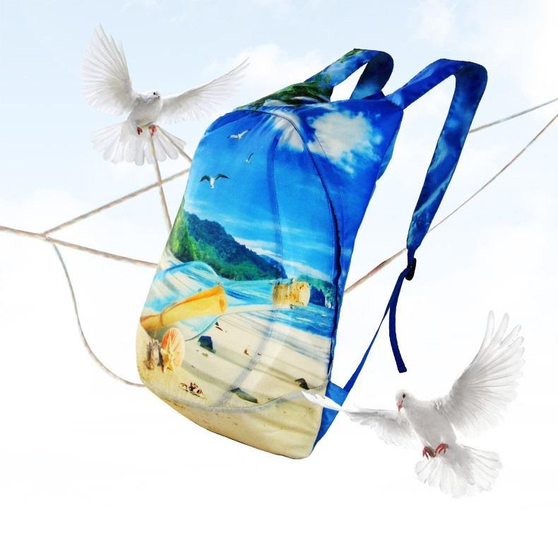 vodoottalkivajushhij skladnoj rjukzak play king 20 l s 3d printom 13 - Водоотталкивающий складной рюкзак PLAY-KING 20 л с 3D-принтом