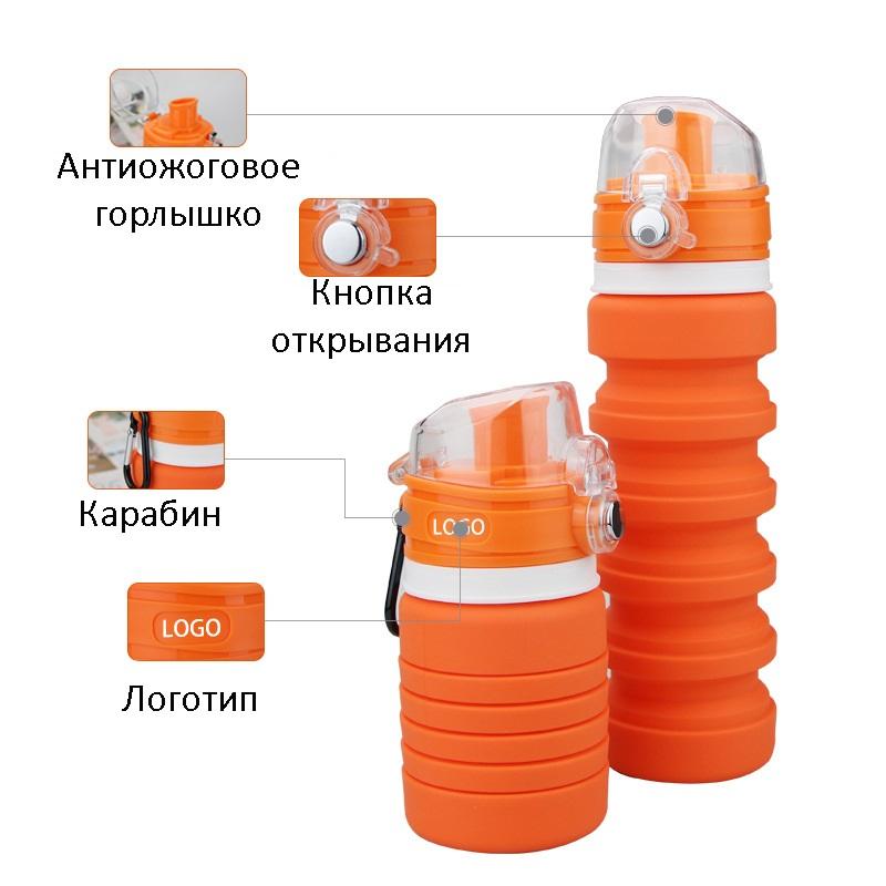 dorozhnaja butylka skladnaja 150 500 ml lofca 15 - Дорожная бутылка складная 150-500 мл LOFCA
