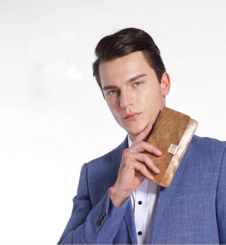 muzhskoj kozhanyj koshelek chehol dlja smartfona vanlord etud 09 - Мужской кожаный кошелек + чехол для смартфона Vanlord Etud – натуральная кожа первый слой