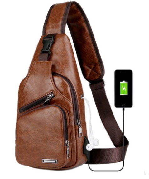 plechevaja sumka rjukzak s usb portom yushilai 02 - Плечевая сумка-рюкзак с USB-портом Yushilai – PU кожа