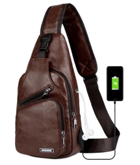 plechevaja sumka rjukzak s usb portom yushilai 03 - Плечевая сумка-рюкзак с USB-портом Yushilai – PU кожа