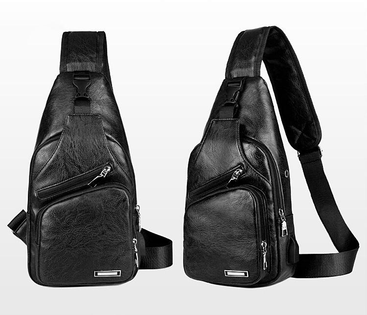 plechevaja sumka rjukzak s usb portom yushilai 04 - Плечевая сумка-рюкзак с USB-портом Yushilai – PU кожа