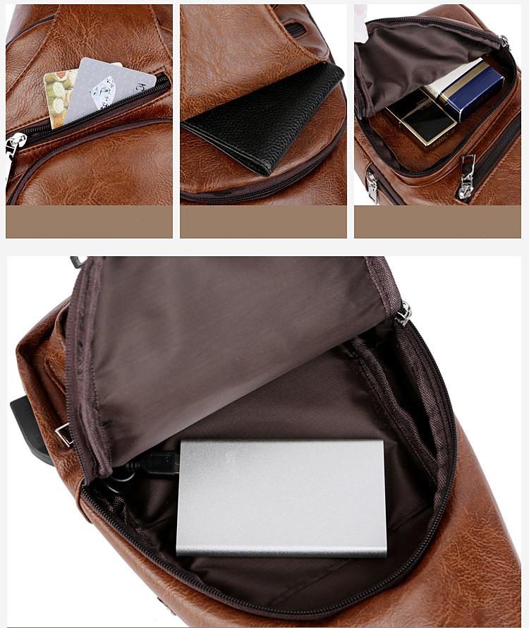 plechevaja sumka rjukzak s usb portom yushilai 09 - Плечевая сумка-рюкзак с USB-портом Yushilai – PU кожа