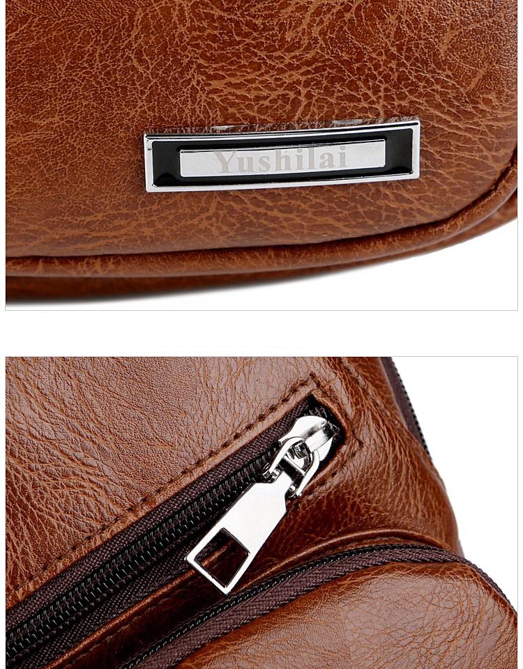 plechevaja sumka rjukzak s usb portom yushilai 11 - Плечевая сумка-рюкзак с USB-портом Yushilai – PU кожа