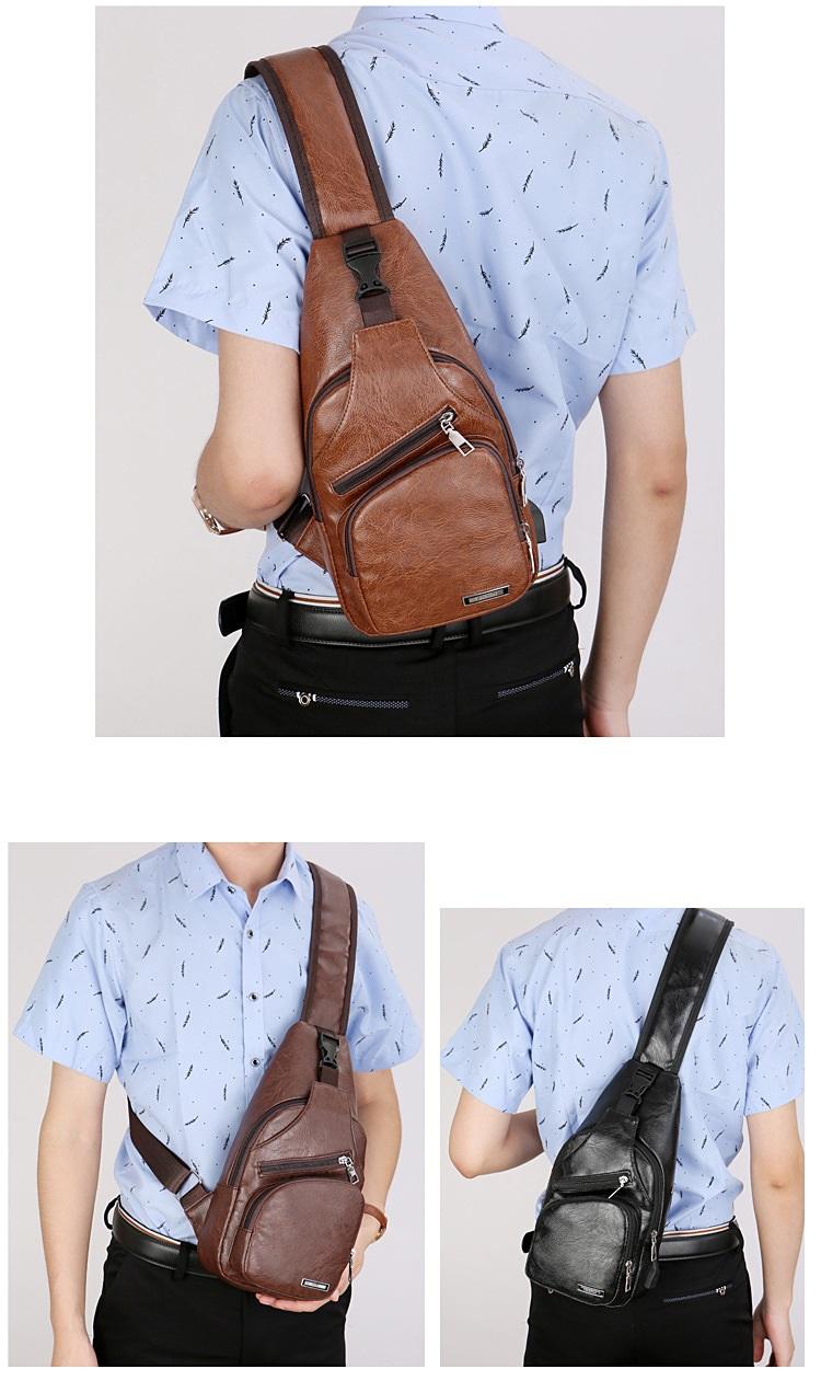 plechevaja sumka rjukzak s usb portom yushilai 13 - Плечевая сумка-рюкзак с USB-портом Yushilai – PU кожа