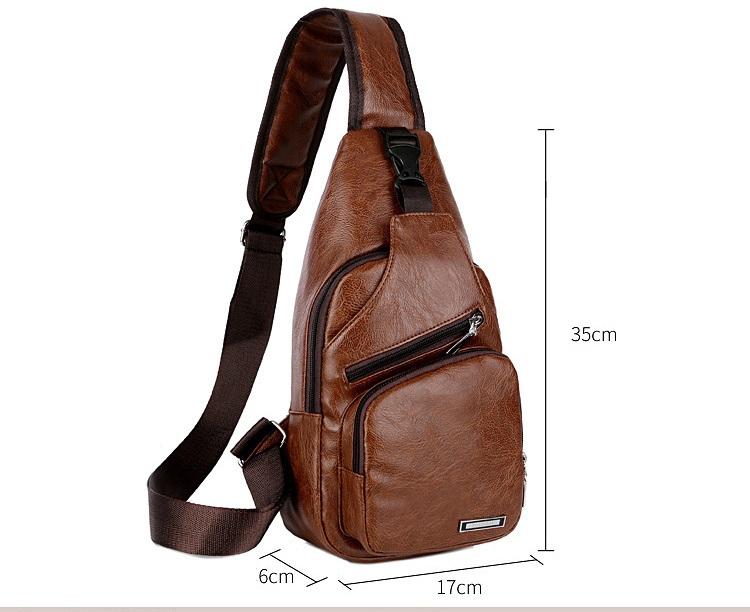 plechevaja sumka rjukzak s usb portom yushilai 14 - Плечевая сумка-рюкзак с USB-портом Yushilai – PU кожа