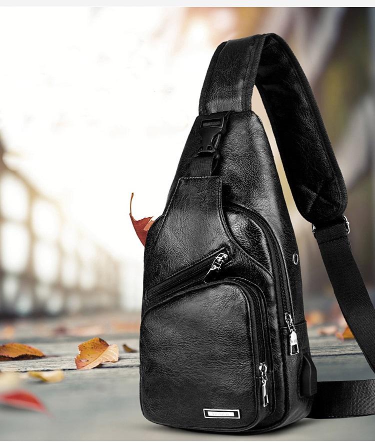 plechevaja sumka rjukzak s usb portom yushilai 18 - Плечевая сумка-рюкзак с USB-портом Yushilai – PU кожа