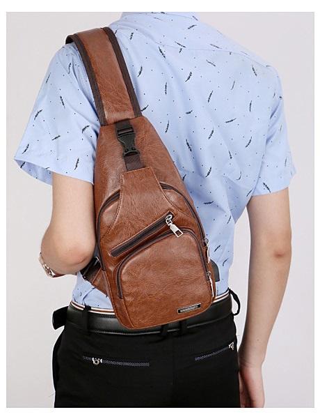 plechevaja sumka rjukzak s usb portom yushilai 25 - Плечевая сумка-рюкзак с USB-портом Yushilai – PU кожа