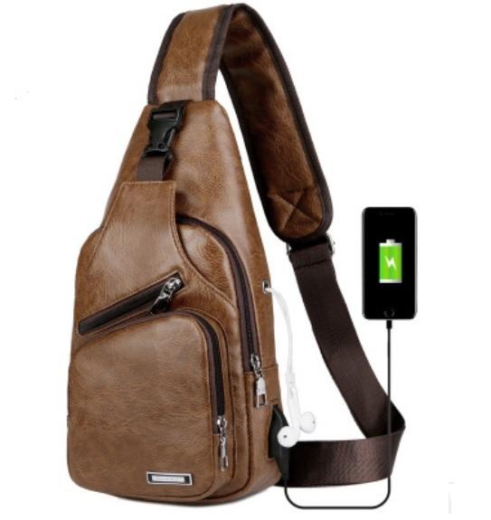 plechevaja sumka rjukzak s usb portom yushilai 30 - Плечевая сумка-рюкзак с USB-портом Yushilai – PU кожа