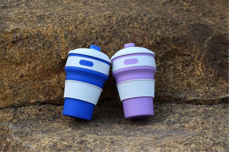 skladnoj stakan s kryshkoj 350 ml 06 - Складной стакан с крышкой (350 мл) – пищевой пластик