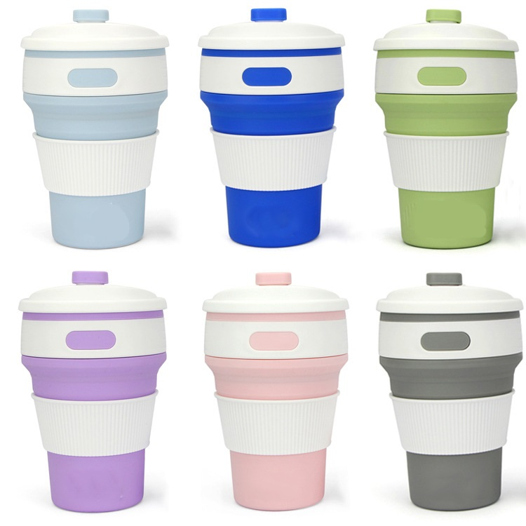 skladnoj stakan s kryshkoj 350 ml 15 - Складной стакан с крышкой (350 мл) – пищевой пластик