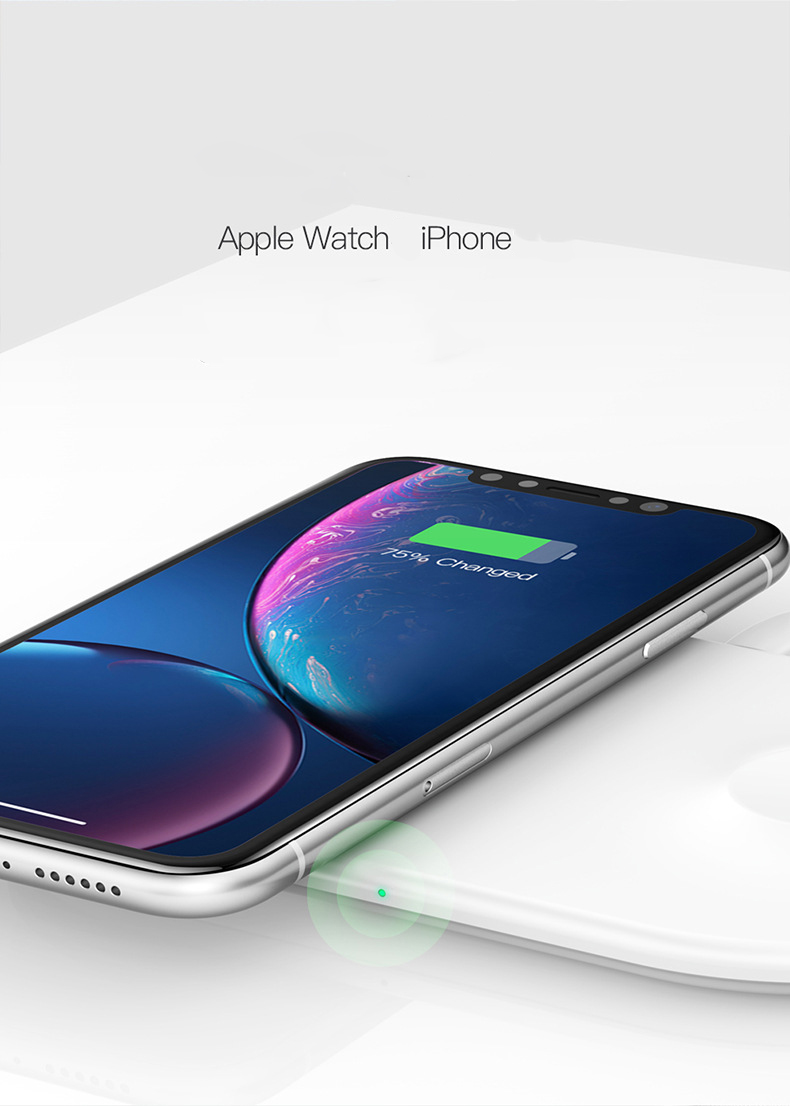 besprovodnoe zarjadnoe ustrojstvo baseus bswc p19 smart 2 v 1 iphone iwatch 002 - Беспроводное зарядное устройство Baseus BSWC-P19 Smart 2 в 1 iPhone + iWatch