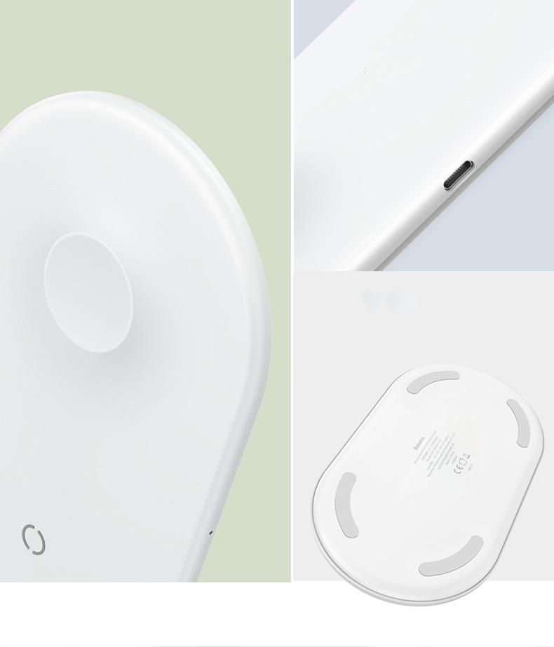 Беспроводное зарядное устройство Baseus BSWC-P19 Smart 2 в 1 iPhone + iWatch