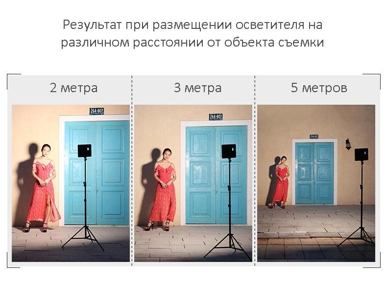 nakamernyj svet dlja fotografa viltrox vl 200 06 1 - Комплект Свет фотографа: 3 х накамерные осветители Viltrox VL-200 со штативами и адаптерами питания + пульт ДУ + сумка