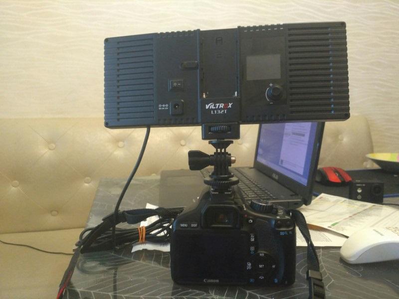 professionalnyj videosvet dlja fotografa viltrox l132t 02 - Профессиональный видеосвет для фотографа Viltrox L132T – ЖК-экран, 1065 лм (студийный свет)