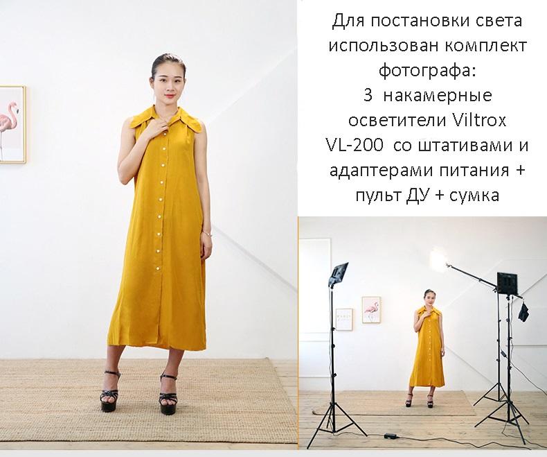 - Комплект Свет фотографа: 3 х накамерные осветители Viltrox VL-200 со штативами и адаптерами питания + пульт ДУ + сумка