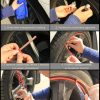 Наклейки на колеса (полосы на диски) 8м рулон, 10 цветов 225530