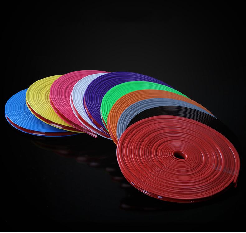 Наклейки на колеса (полосы на диски) 8м рулон, 10 цветов